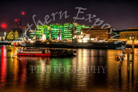 HMS Belfast by Night