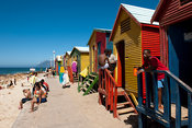Victorian bathing huts, St James beach, Cape Town, South Africa