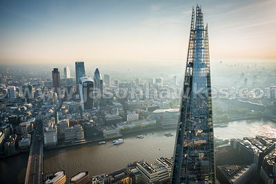 Shard and City of London.