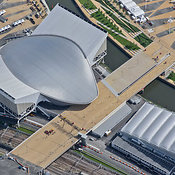 Aerial View Of The Aquatics Centre, London