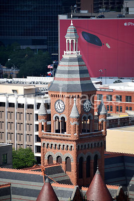 Dallas Stock Photos: Downtown Dallas Red Courthouse