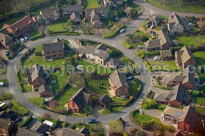 Aerial view of housing in the West Midlands