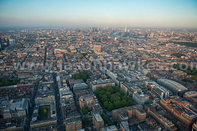 Aerial view of City of Westminster, London