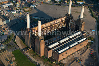 London. Aerial view of Battersea Power Station