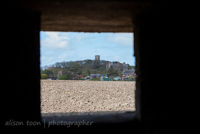View of Happisburgh Church from pillbox