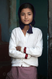 A girl in Jodhpur, Rajasthan, India