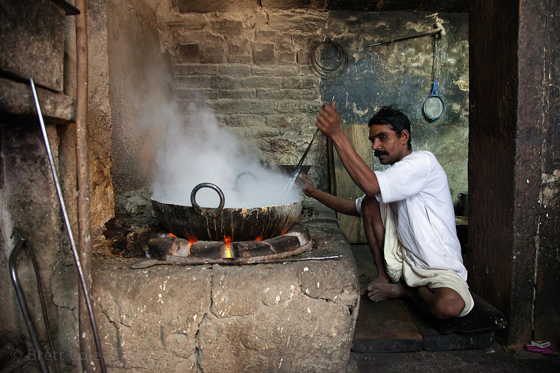 Making sweets at a shop in Jodhpur, Rajasthan, India