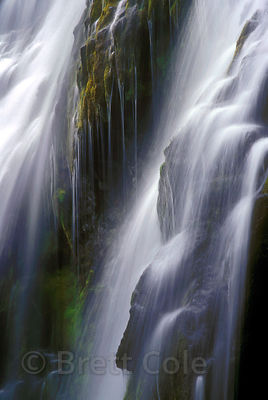 Detail of Lower Proxy Falls with long exposure, Three Sisters Wilderness, Oregon Cascades.