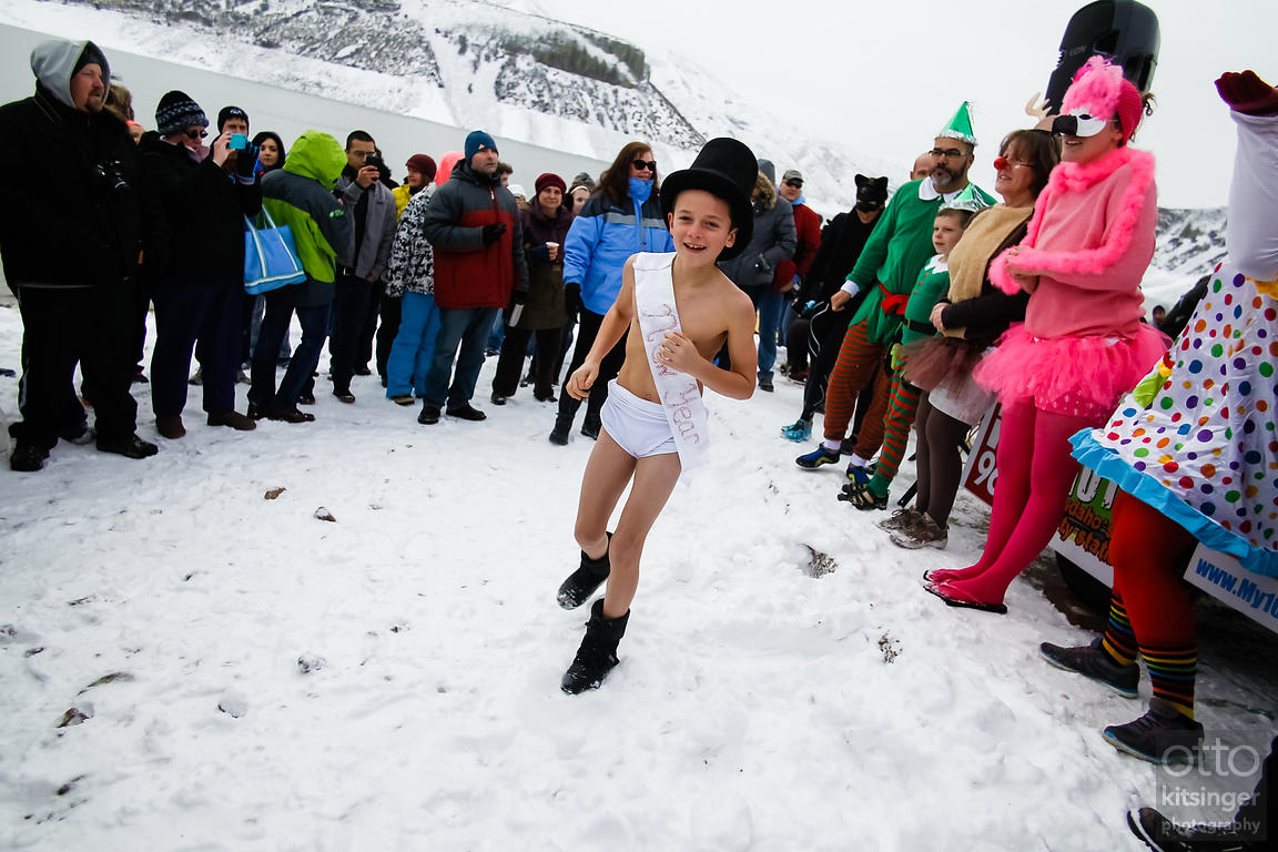 New Year's Baby at the Polar Bear Plunge