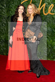 Elizabeth Jagger and Jerry Hall attend The Fashion Awards 2018 at The Royal Albert Hall. London, UK. 10/12/2018