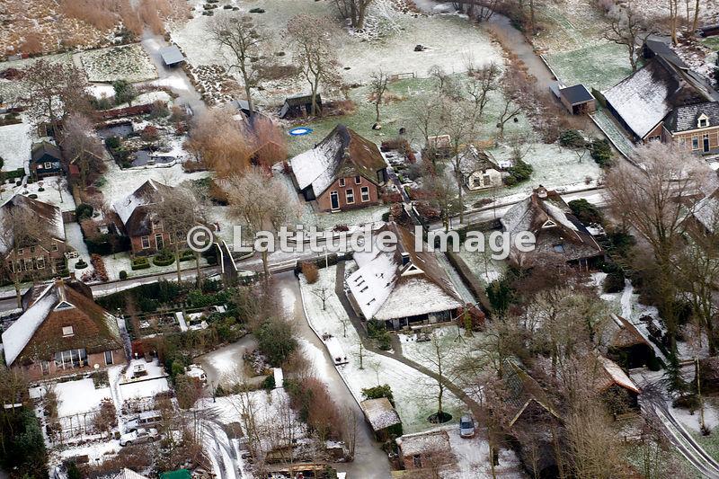 Latitude Image Giethoorn In Winter Overijssel Aerial Photo