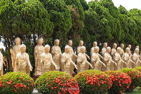 Multiple statues of Buddha at the Fo Guang Shan Buddha Museum in Dashu District, Kaohsiung, Taiwan
