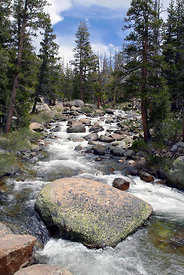 The Wild West - the untamed splendor of the Tuolumne River in the high country of Yosemite National Park, California.