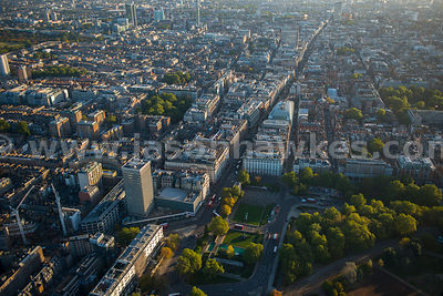Aerial view of Marylebone and Mayfair, London