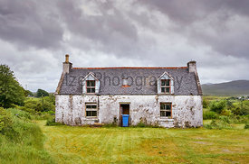 A derelict, abandoned property near Dunvegan on the Isle of Skye, Scotland, UK.