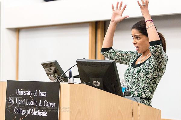 Soledad O'Brien at the University of Iowa, January 23, 2014