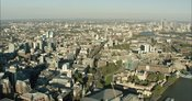 London Aerial Footage of Tower Bridge to London City Skyline