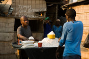 Mozambique, Beira, salt for sale at the market.