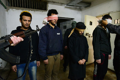 The ISIS fighters Captured by YPG in Prison Syria