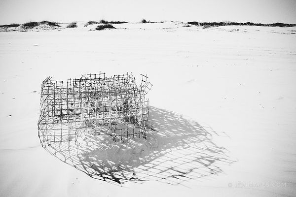 OLD FISHING CRATE CUMBERLAND ISLAND BEACH
