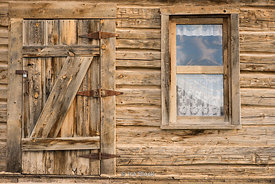 Wooden house in Escalante, a city in Garfield County, Utah, United States.