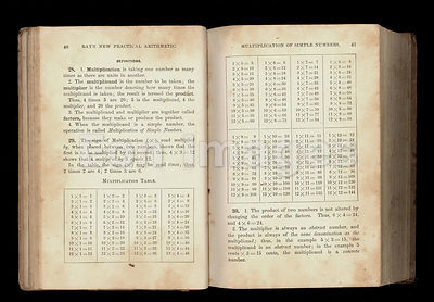 Pages from 1877 arithmetic text
