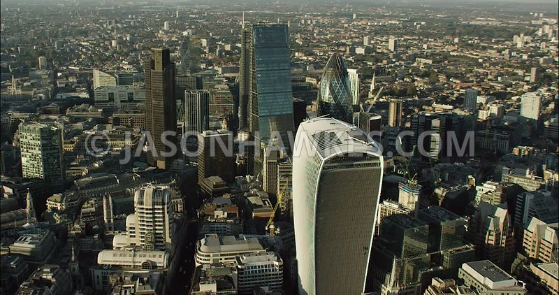 London Aerial Footage 20 Fenchurch Street.