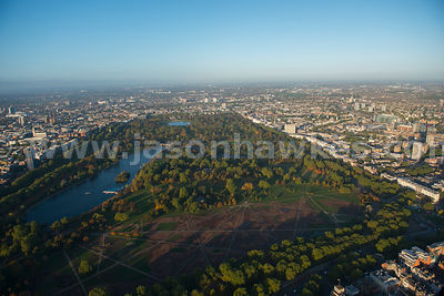 London. Aerial view of Hyde Park
