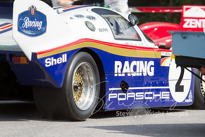 Porsche 956 (2.65-litre turbocharged flat-6, 1983), Derek Bell - Goodwood Festival of Speed 2013