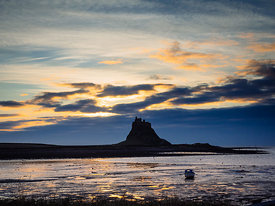 Sun rise at Lindisfarne, The Holy Isle, Northumberland