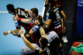 Players of Vardar during the Final Tournament - Final Four - SEHA - Gazprom league, Gold Medal Match Vardar - Telekom Veszpré...