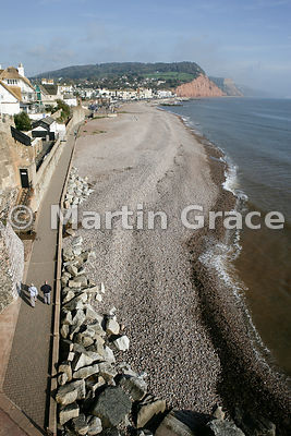 Sidmouth shore, south Devon, England