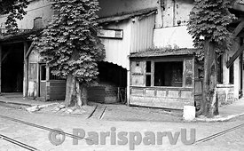 The Wine storehouses of Bercy in 1986 Paris 12th