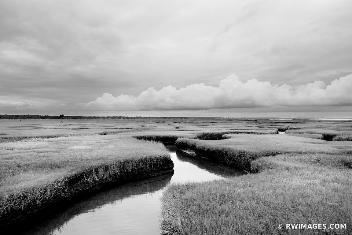 GRAYS BEACH YARMOUTH CAPE COD MASSACHUSETTS BLACK AND WHITE