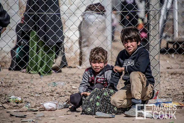 Two Children Who Escaped From ISIS Held West Mosul Earlier In The Day. They've Made It To Hamam al Alil IDP Camp, But The Cam...