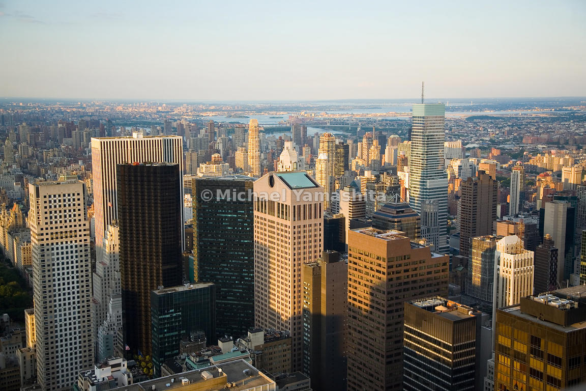 This quintet of skyscrapers in midtown includes: the 712 Fifth Avenue, the General Motors, the Trump and former IBM buildings...