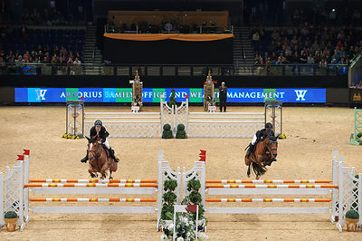 ASTON Chloe, (GBR), CHATEAU DE BRION QUAINTON during Knockout competition at CSI4* Liverpool International Horse Show at Echo...