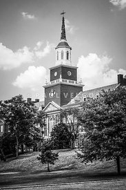 University of Cincinnati Black and White Picture