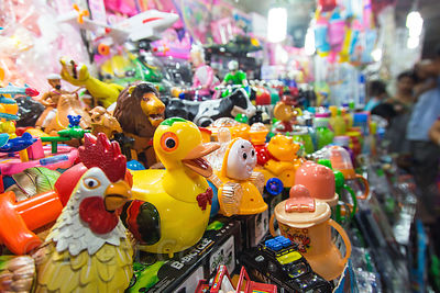 Toy stall at night, Newmarket, Kolkata, India