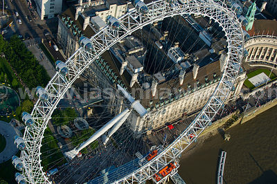 Aerial view of the London Eye, London