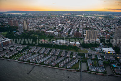 Aerial view of West New York, a town in Hudson County, New Jersey