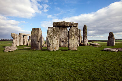 UK - Wiltshire - The standing stone circle at Stonehenge