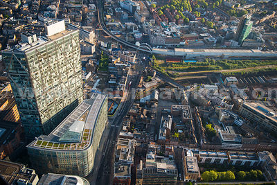 Aerial view of Shoreditch High Street, London