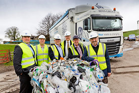 Project Beacon meeting at Binn Farm, Glenfarg, Cupar..4.5.18..Pictured are:.Pic 1 = L-R.Adrian Griffiths - Recycling Technolo...