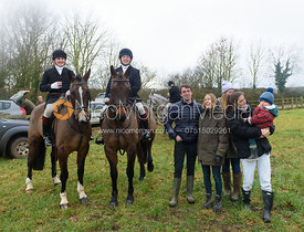 at the meet - The Belvoir Hunt at Harby 28/1