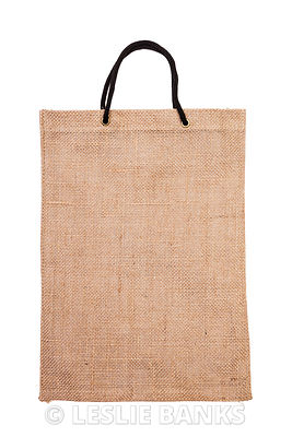 Burlap bag isolated on white