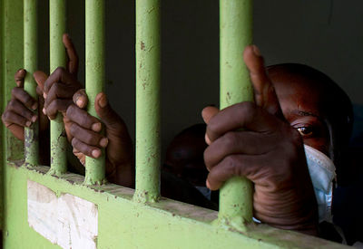 Ivory Coast. Prison and Correction Center in Abidjan (MACA) .The jail cell at Medical Center Where Prisoners Suffering from t...