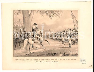 George Washington taking command of the American Army at Cambridge, Mass. July 3rd. 1775