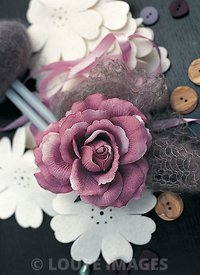 A fabric rose