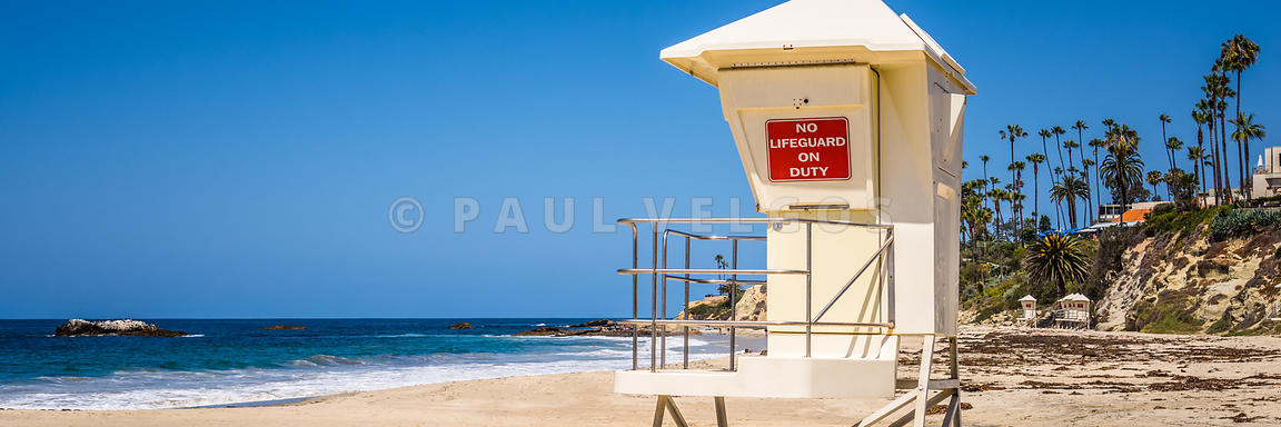 California Laguna Beach Lifeguard Tower Panorama Photo